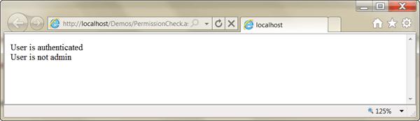 ASPNET - משתמש מורשה שאינו Admin