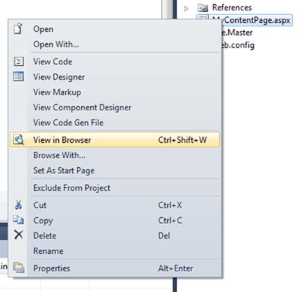 ASPNET - פתיחת דף בדפדפן