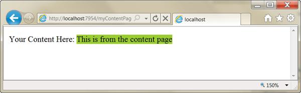ASPNET - מראה עמוד עם Master Page בדפדפן