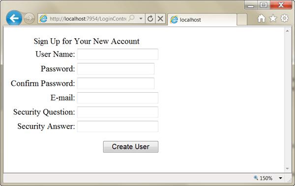 ASPNET - רישום משתמש חדש