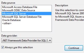 ASPNET - בחירת חיבור ל-Sql Server