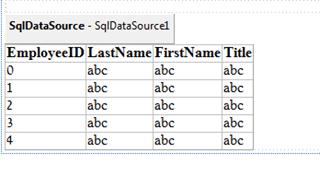 ASPNET - עמודות GridView לפי מקור הנתונים