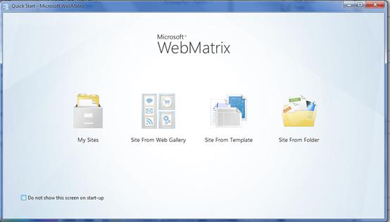PHP WebMatrix