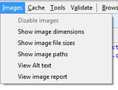 ניהול תמונות בכלי המפתחים