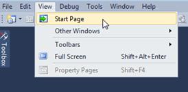 Visual Studio Express - פתיחת מסך הפתיחה לאחר סגירתו