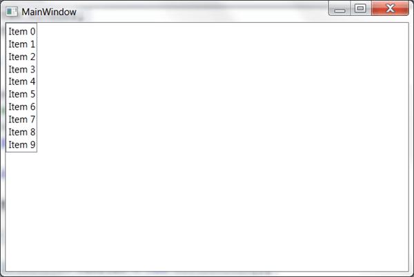 מדריך WPF – פקדים בסיסיים: ListBox