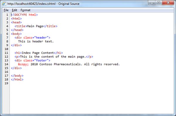 CSHTML RenderPage בלוקים לשימוש חוזר