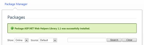 CSHTML Helpers התקנת