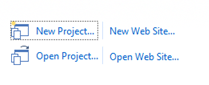 Visual Studio Express - יצירת פרוייקט חדש ממסך הפתיחה