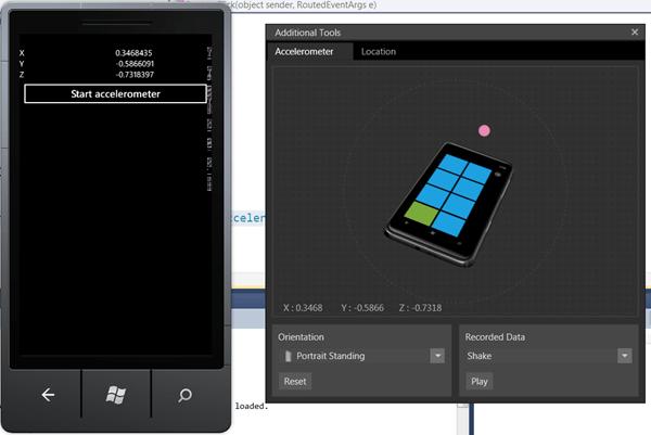 מדריך Windows Phone – שימוש בסנסור Accelerometer