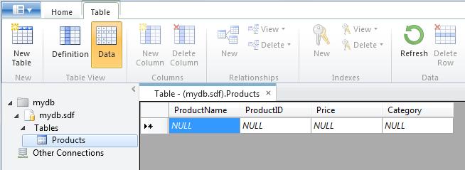 SQL הוספת נתונים