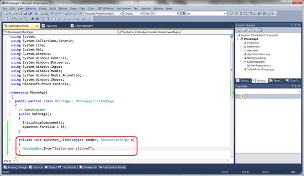 מדריך Windows Phone – הקשר בין XAML לקוד #C