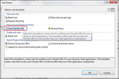 בחירה ב-user friendly url