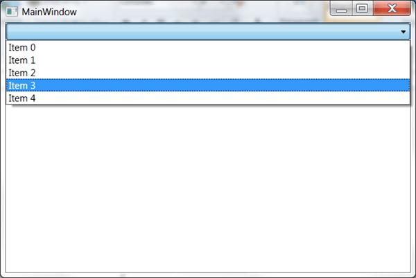 מדריך WPF – פקדים בסיסיים: ComboBox