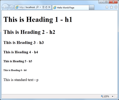 HTML כותרות