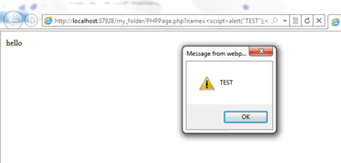 XSS Attack Example