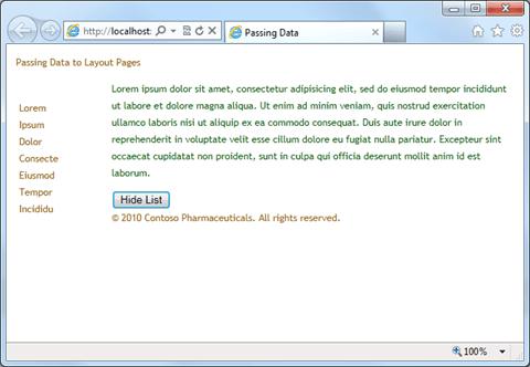 CSHTML PageData העברת נתונים בין דפים