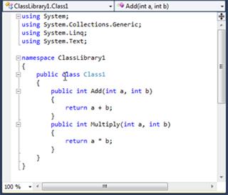 Visual Studio Express - צמצום חלקי קוד