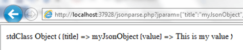 print JSON object