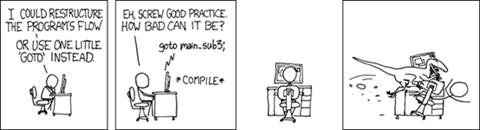 מקור: HTTP://IMGS.XKCD.COM/COMICS/GOTO.PNG מופץ תחת רשיון CREATIVE COMMONS