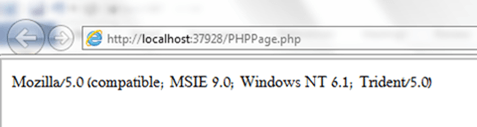 user agent of IE9