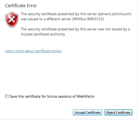 certificate error example