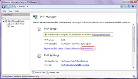 PHP Setup