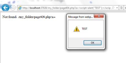XSS example with SERVER super global