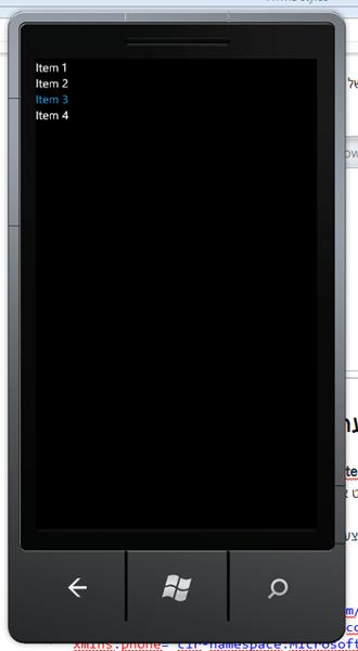 מדריך Windows Phone – פקדים בסיסיים: ListBox