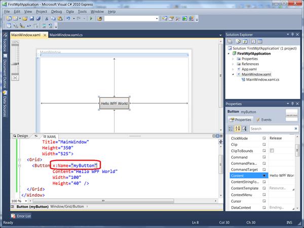 מדריך WPF – הקשר בין XAML לקוד #C