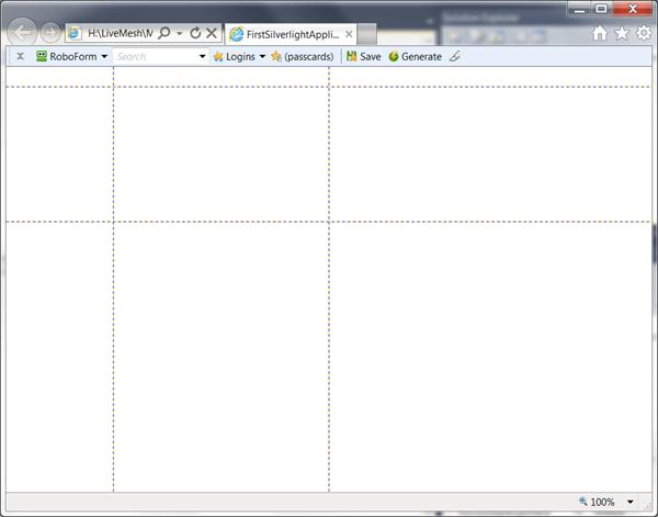 מדריך Silverlight – סידור פקדים: Grid