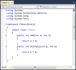 Visual Studio Express - עורך הקוד