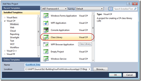 vs2010 Add new Class Library project